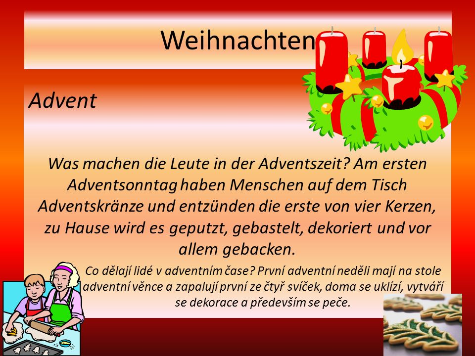 Weihnachten Advent Was machen die Leute in der Adventszeit.