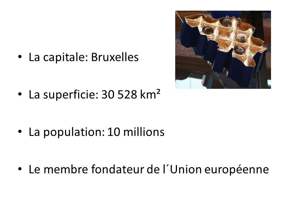 La capitale: Bruxelles La superficie: 30 528 km² La population: 10 millions Le membre fondateur de l´Union européenne
