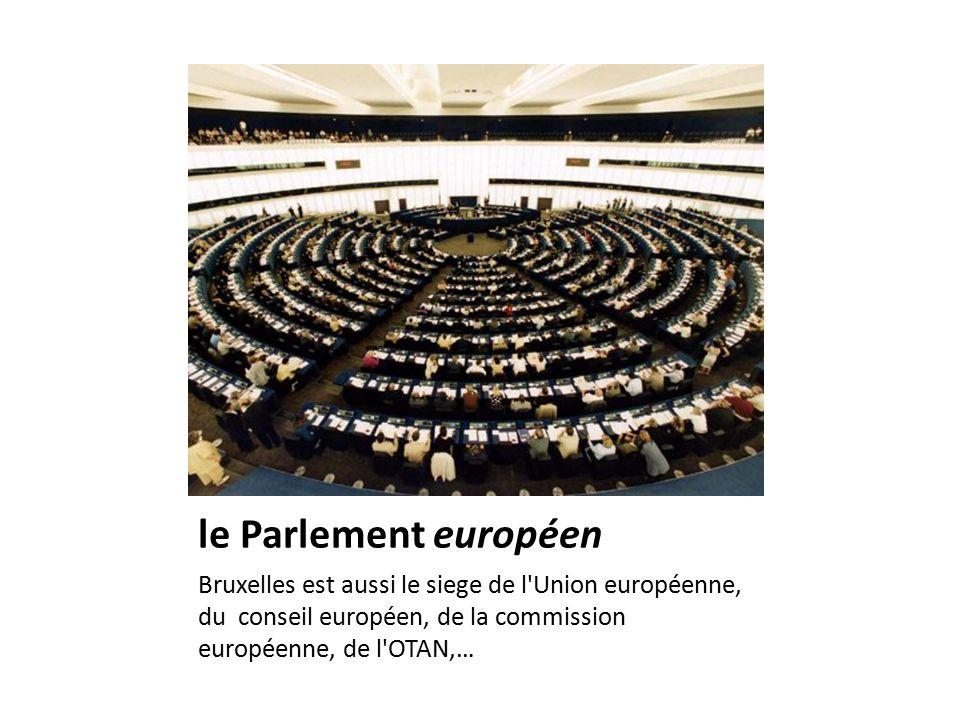 le Parlement européen Bruxelles est aussi le siege de l Union européenne, du conseil européen, de la commission européenne, de l OTAN,…