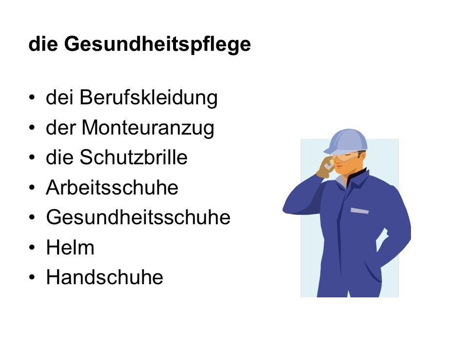 die Gesundheitspflege dei Berufskleidung der Monteuranzug die Schutzbrille Arbeitsschuhe Gesundheitsschuhe Helm Handschuhe