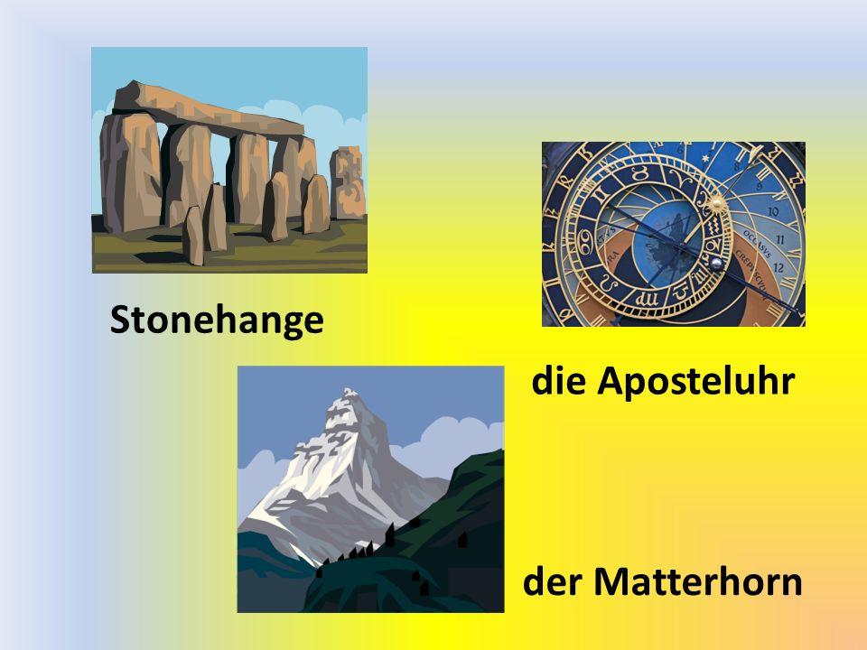 der Matterhorn die Aposteluhr Stonehange