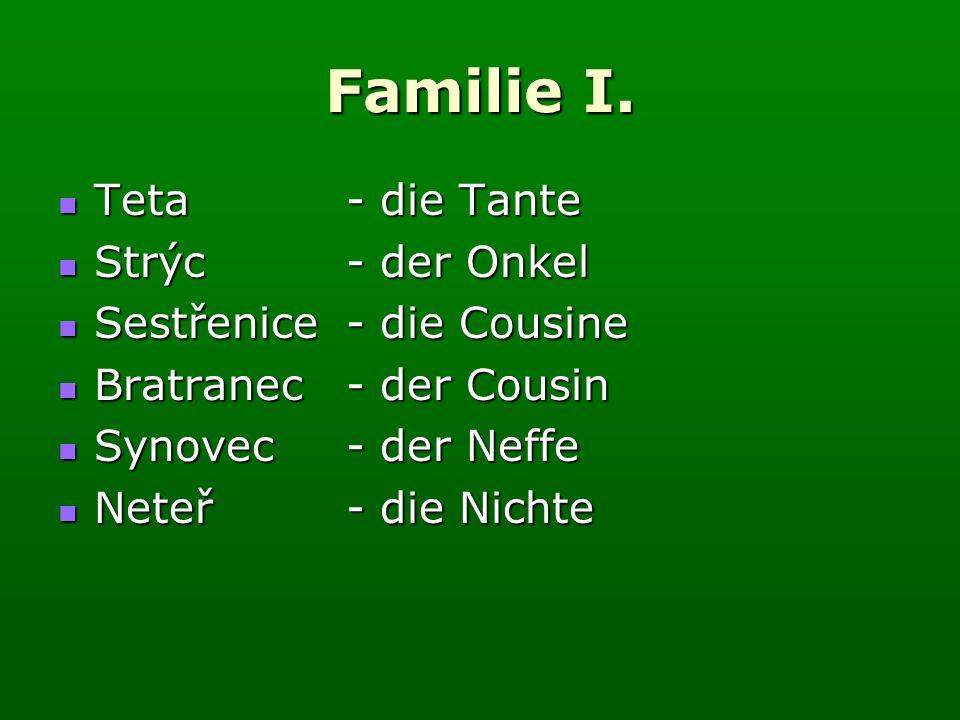 Familie I.Stambaum (rodokmen) (rodokmen) Podle obrázku vytvoř svůj rodokmen.