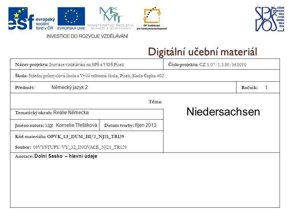 Zdroj Niedersachsen.Wikipedia [ online],[ cit. 2013-10- 11].