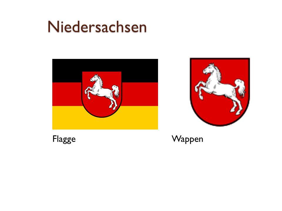 Niedersachsen Flagge Wappen
