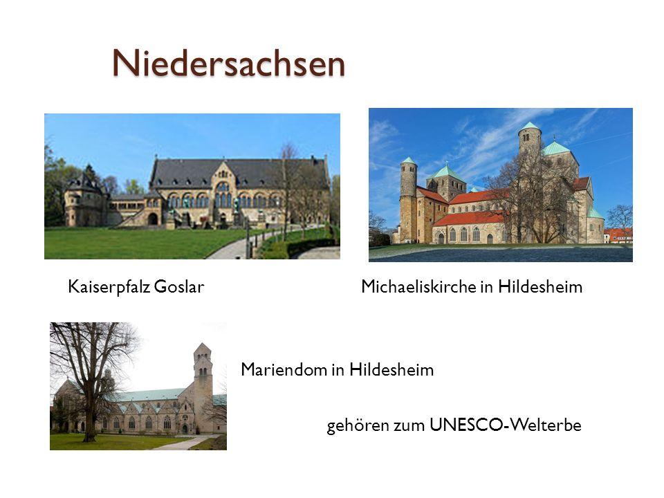 Niedersachsen Kaiserpfalz Goslar Michaeliskirche in Hildesheim Mariendom in Hildesheim gehören zum UNESCO-Welterbe