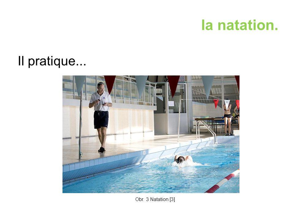 la natation. Il pratique... Obr. 3 Natation [3]
