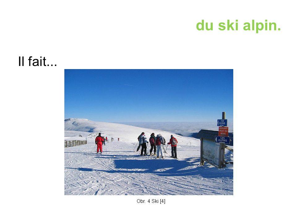 du ski alpin. Il fait... Obr. 4 Ski [4]