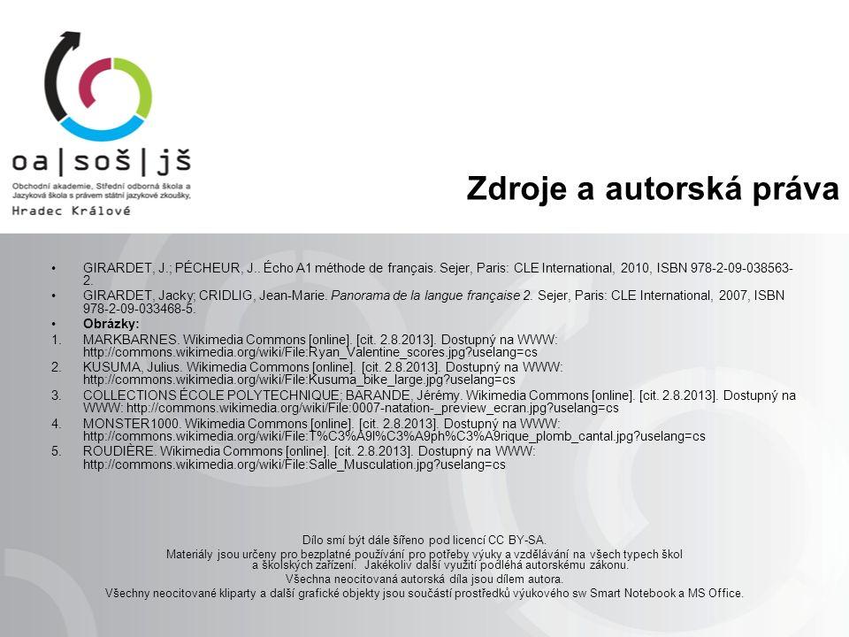 Zdroje a autorská práva GIRARDET, J.; PÉCHEUR, J..