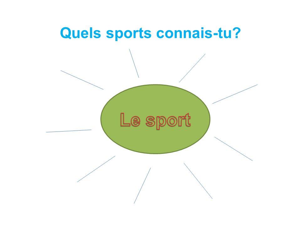 Quels sports connais-tu