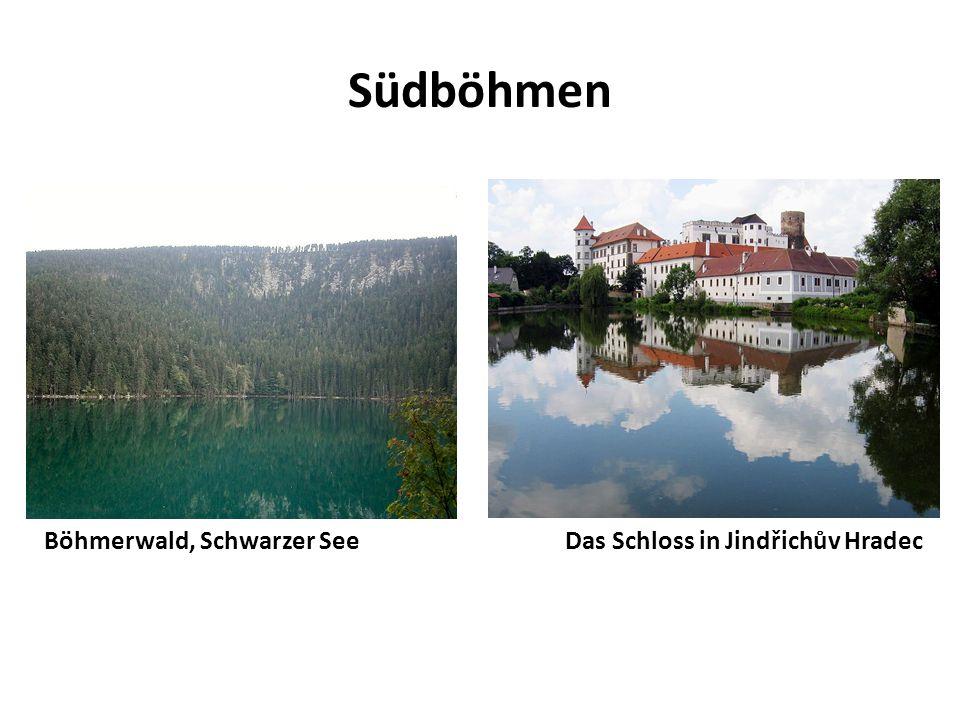 Südböhmen Böhmerwald, Schwarzer See Das Schloss in Jindřichův Hradec