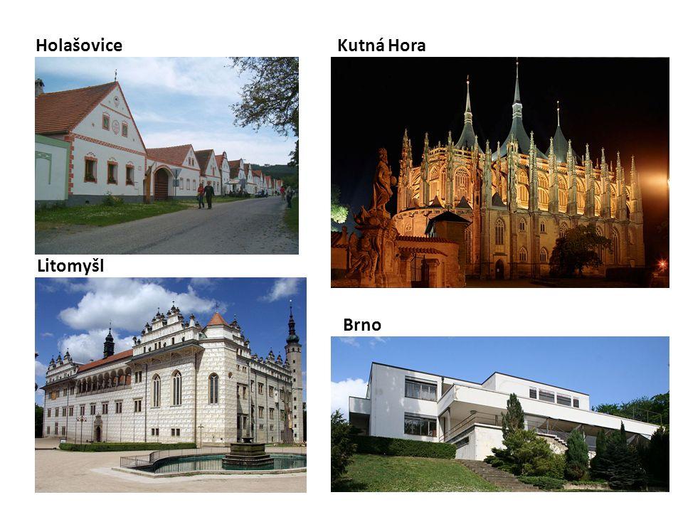 Litomyšl HolašoviceKutná Hora Brno
