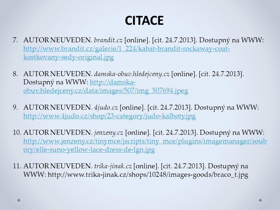 CITACE 7.AUTOR NEUVEDEN. brandit.cz [online]. [cit.