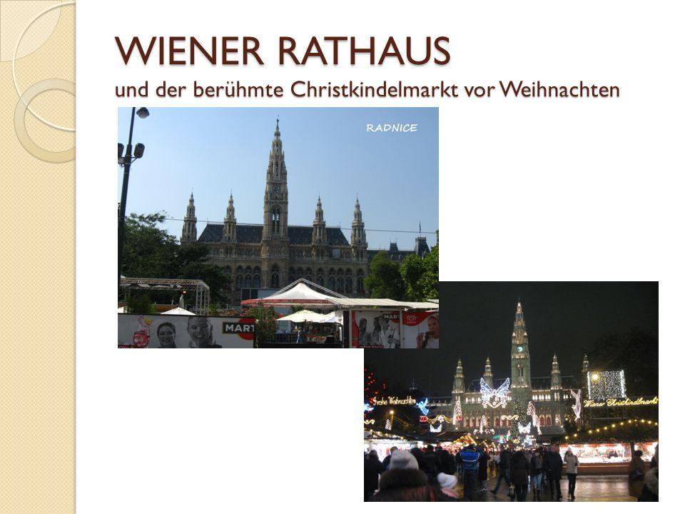 WIENER RATHAUS und der berühmte Christkindelmarkt vor Weihnachten