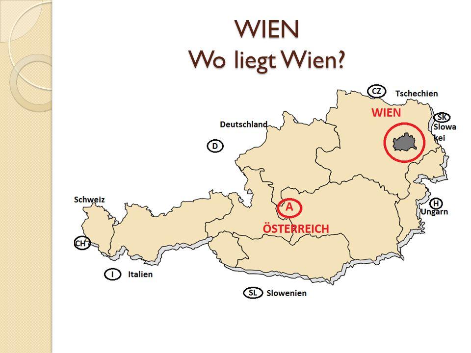 WIEN ist die Hauptstadt von Österreich ist ein selbstständiges Bundesland hat etwa 1,7 Mil.