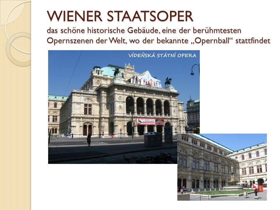 """WIENER STAATSOPER das schöne historische Gebäude, eine der berühmtesten Opernszenen der Welt, wo der bekannte """"Opernball"""" stattfindet"""
