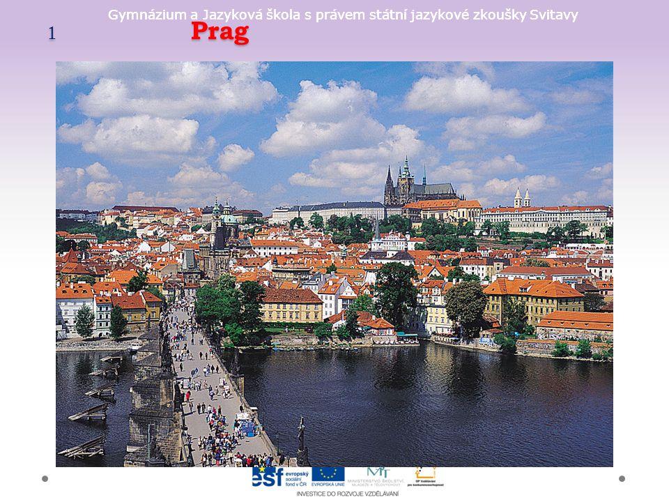 Gymnázium a Jazyková škola s právem státní jazykové zkoušky Svitavy Prag, die Prager Burg + Prag gehört zu den schönsten Städten der Welt + wird von den Touristen besucht + wurde 1992 in die Liste des UNESCO-Welterbes aufgenommen + die Prager Burg bildet das größte geschlossene Burgareal der Welt + liegt auf dem Berg Hradschin in Prag + wurde im 9.