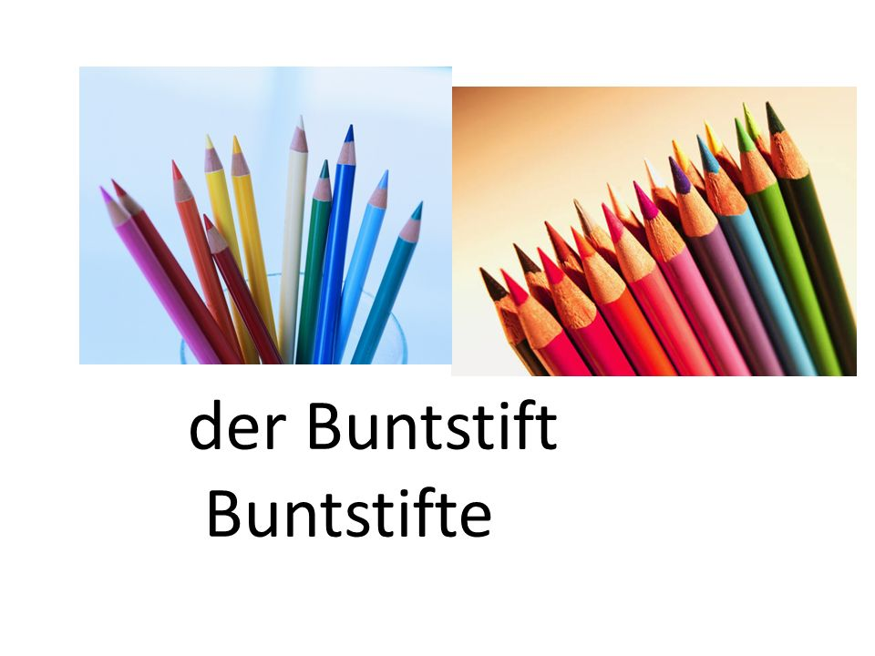der Buntstift Buntstifte