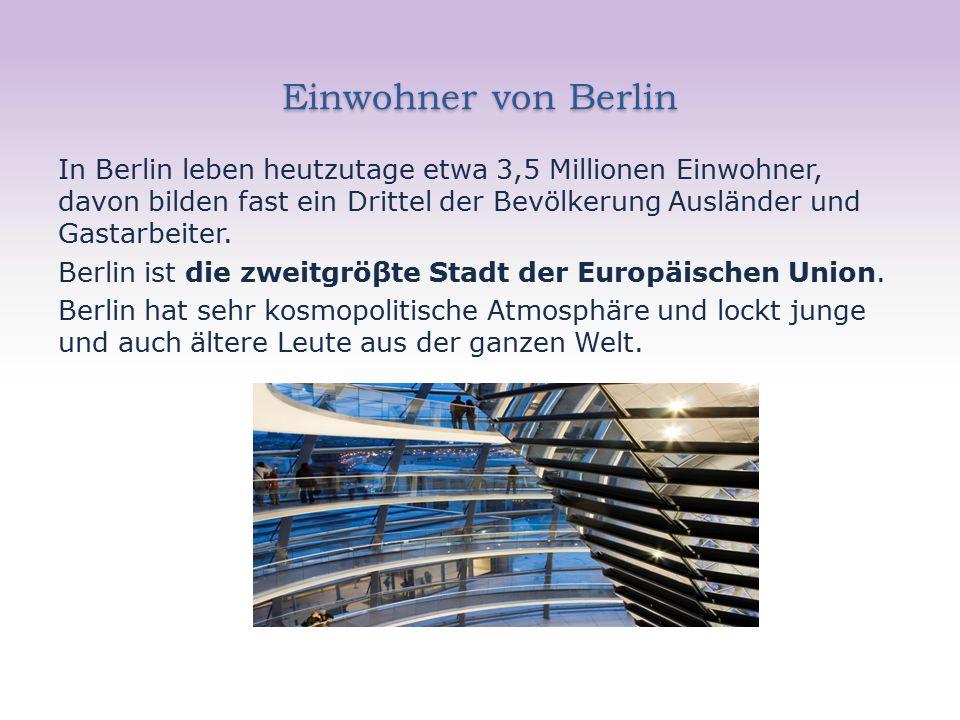 Das Zentrum von Berlin Das Zentrum von ehemaligem Ostberlin ist der Alexanderplatz.