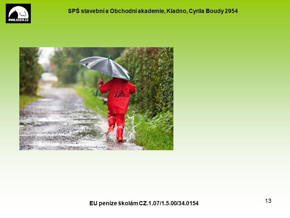 SPŠ stavební a Obchodní akademie, Kladno, Cyrila Boudy 2954 EU peníze školám CZ.1.07/1.5.00/34.0154 13