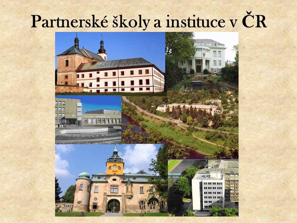 Partnerské školy a instituce v Č R