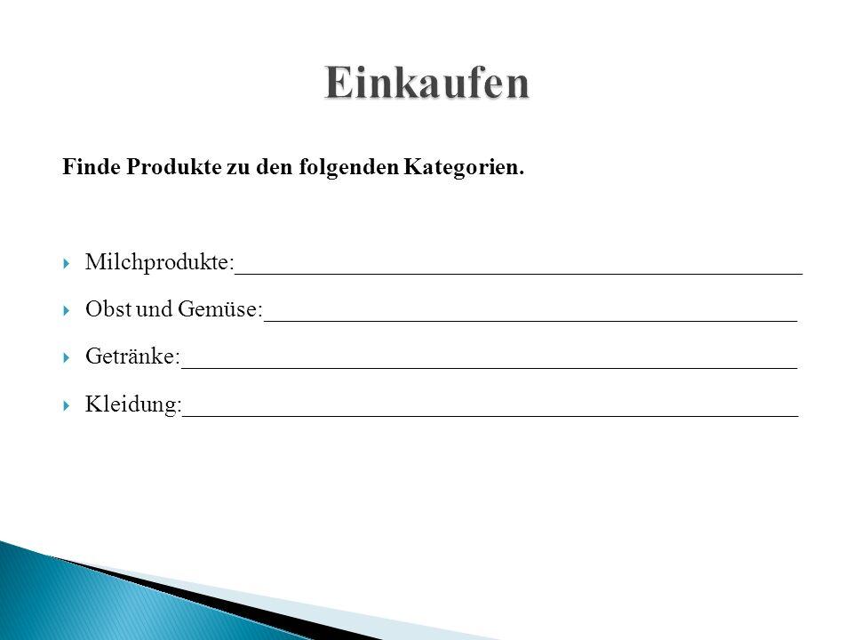 Finde Produkte zu den folgenden Kategorien.
