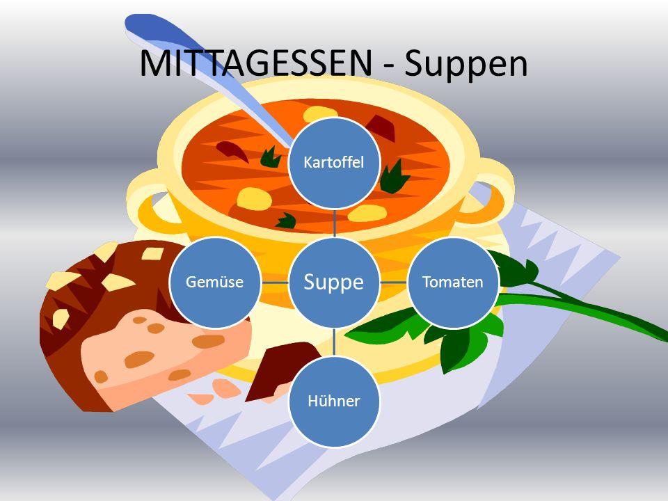 MITTAGESSEN - Suppen Suppe KartoffelTomatenHühnerGemüse