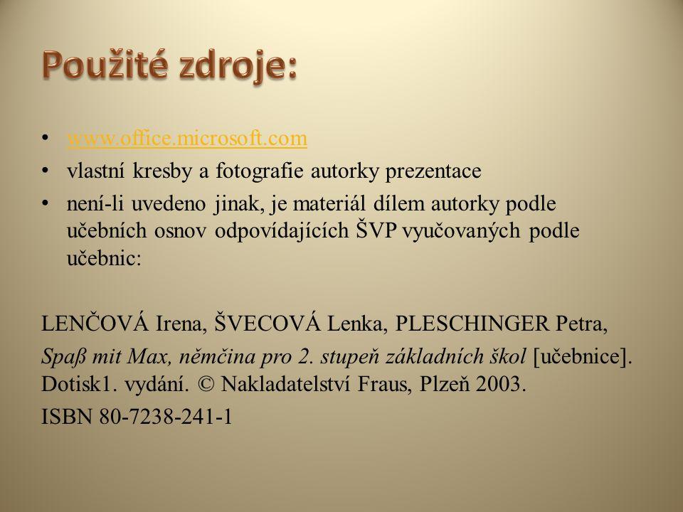 Název školy: ZŠ Klášterec nad Ohří, Krátká 676 Autor: Mgr. Soňa Strnadová Název materiálu: VY_32_INOVACE_19_34_Německý jazyk_préteritum, perfektum sil