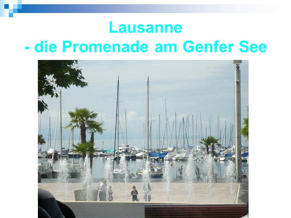 Lausanne - die Promenade am Genfer See