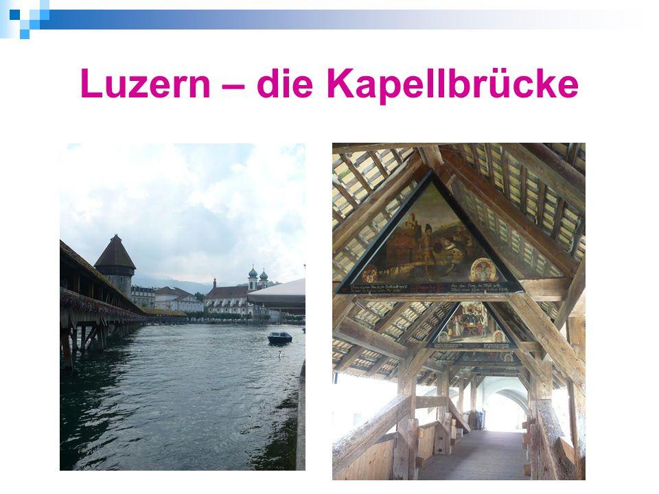 Luzern – die Kapellbrücke