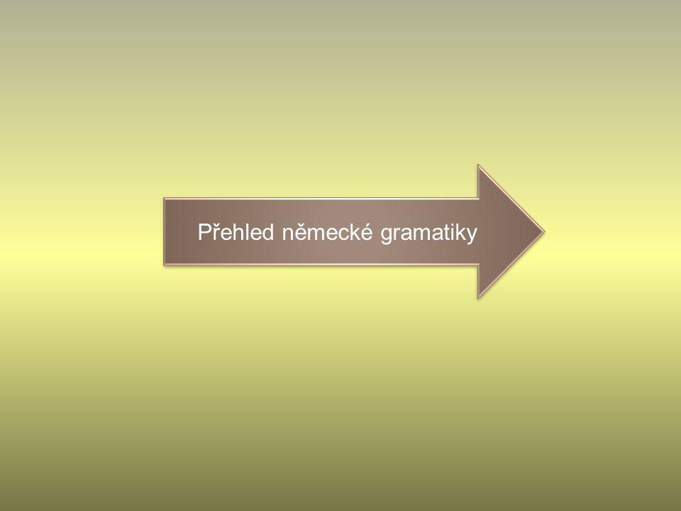 Přehled německé gramatiky