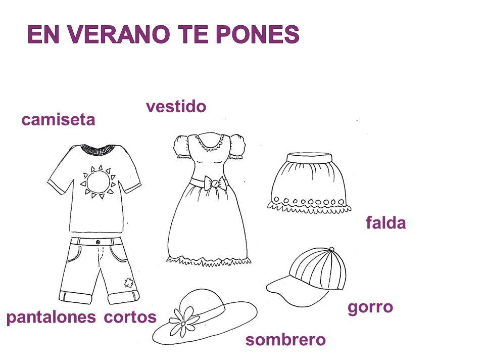 camiseta vestido falda pantalones cortos sombrero gorro