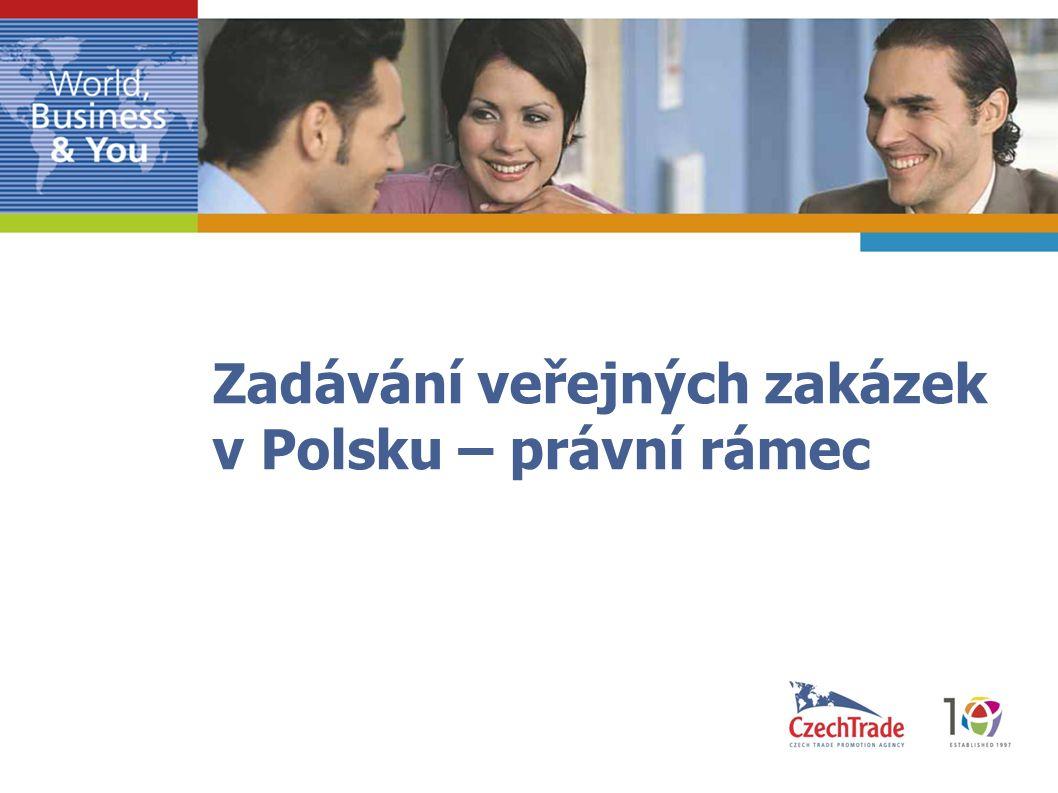 Zadávání veřejných zakázek v Polsku – právní rámec