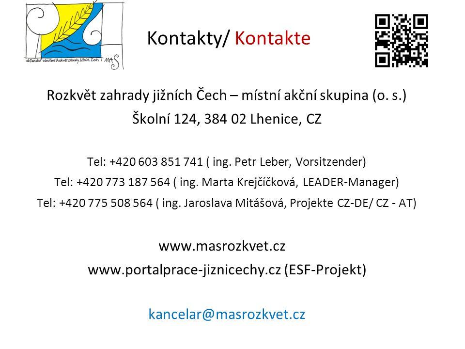 Kontakty/ Kontakte Rozkvět zahrady jižních Čech – místní akční skupina (o.