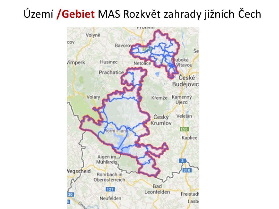 Území /Gebiet MAS Rozkvět zahrady jižních Čech