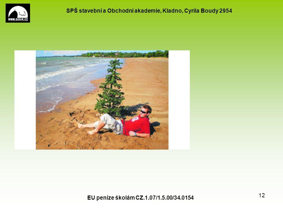 SPŠ stavební a Obchodní akademie, Kladno, Cyrila Boudy 2954 EU peníze školám CZ.1.07/1.5.00/34.0154 12 Použité zdroje