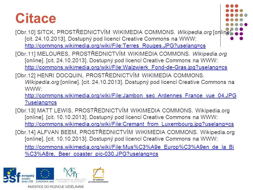 Citace [Obr.10] SITCK, PROSTŘEDNICTVÍM WIKIMEDIA COMMONS. Wikipedia.org [online]. [cit. 24.10.2013]. Dostupný pod licencí Creative Commons na WWW: htt
