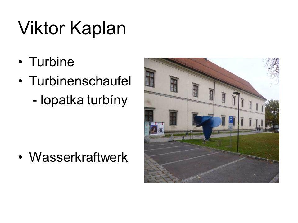 Viktor Kaplan Turbine Turbinenschaufel - lopatka turbíny Wasserkraftwerk