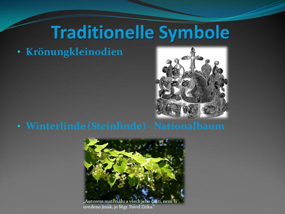 """Traditionelle Symbole Krönungkleinodien Winterlinde (Steinlinde) - Nationalbaum """"Autorem materiálu a všech jeho částí, není-li uvedeno jinak, je Mgr."""