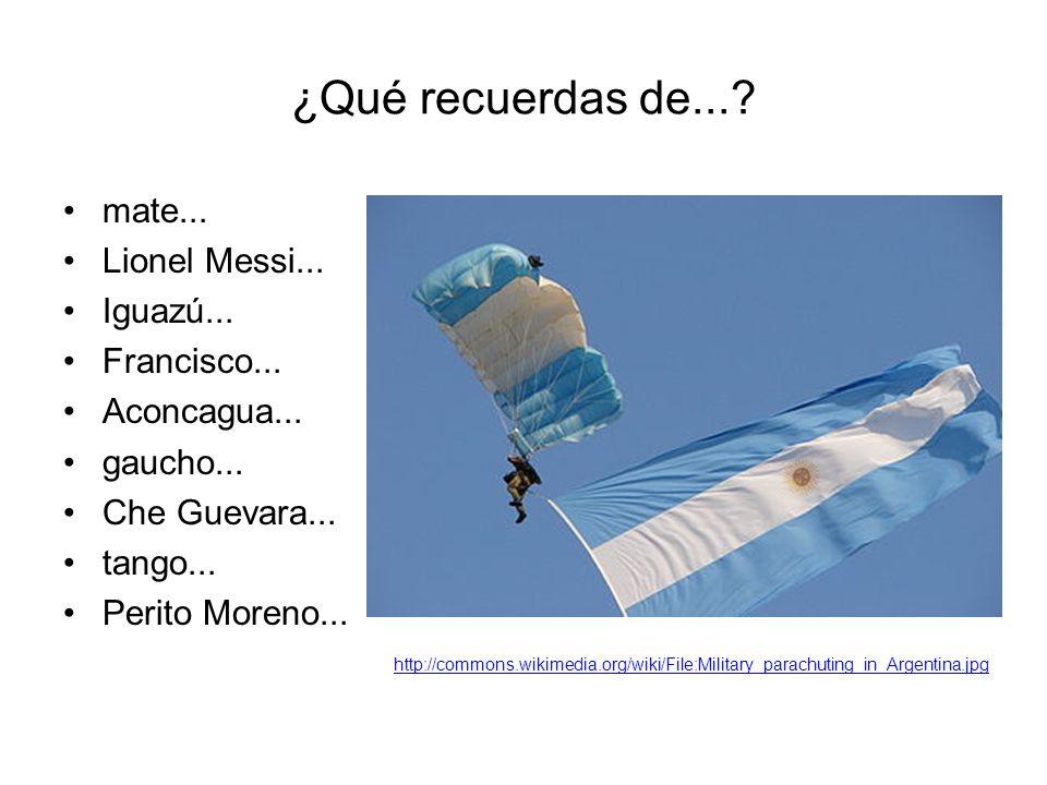 ¿Qué recuerdas de....mate... Lionel Messi... Iguazú...