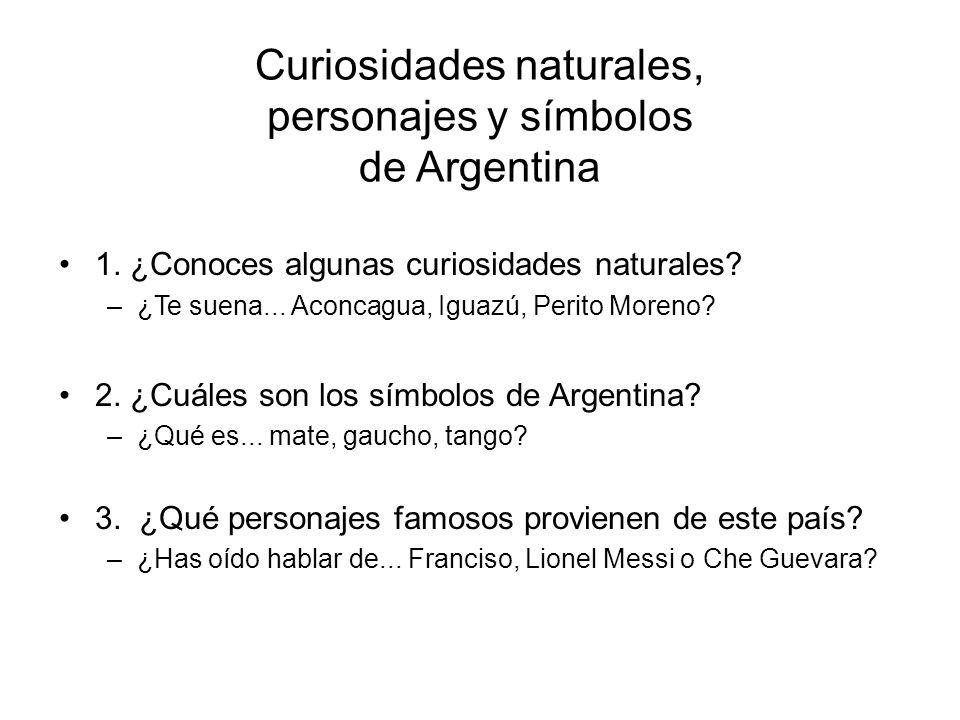 Curiosidades naturales, personajes y símbolos de Argentina 1.