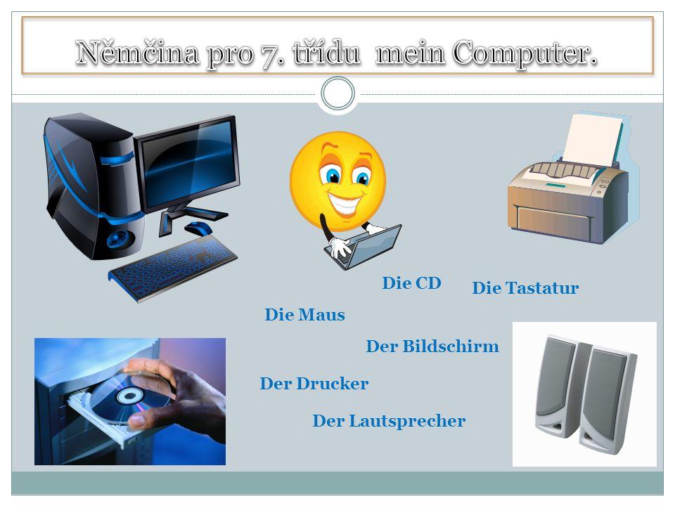 Der Bildschirm Die Tastatur Die Maus Der Lautsprecher Der Drucker Die CD