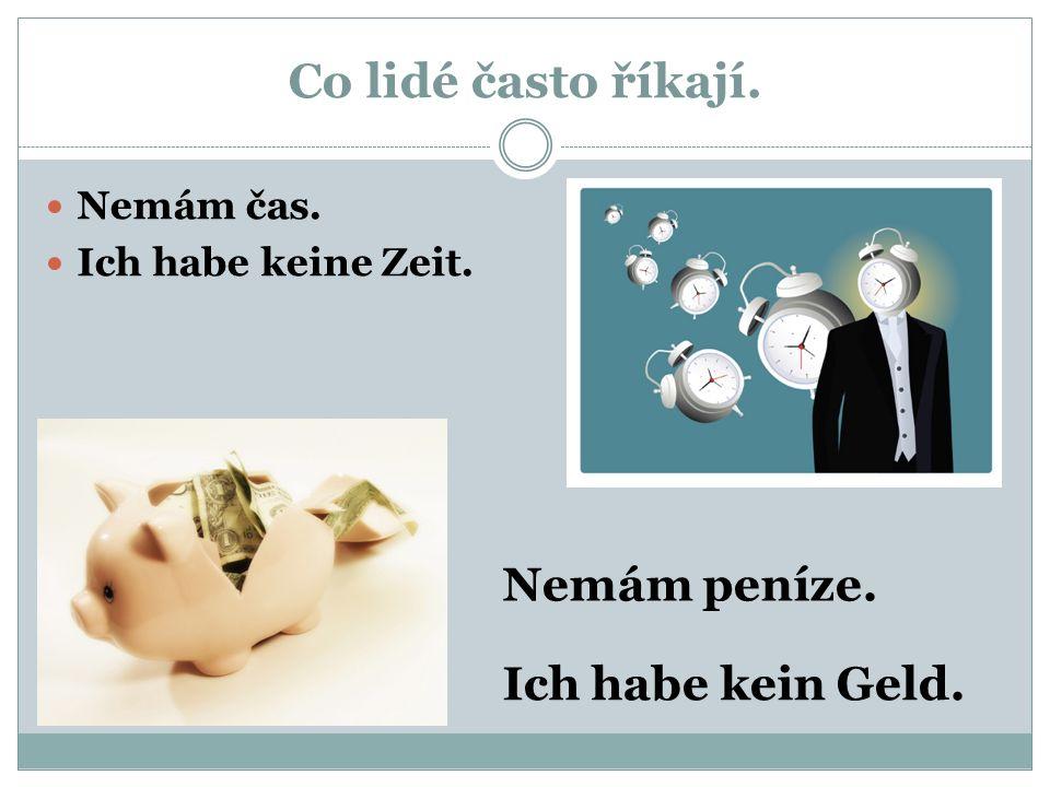 Němčina pro 7.třídu – haben, kein.