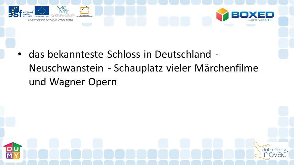 das bekannteste Schloss in Deutschland - Neuschwanstein - Schauplatz vieler Märchenfilme und Wagner Opern