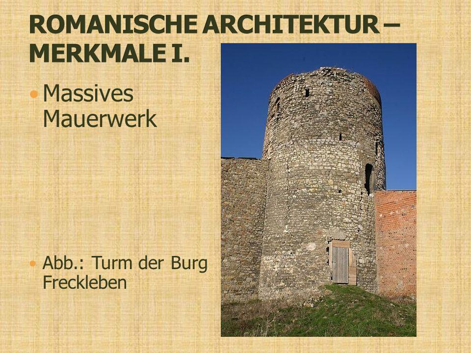 Massives Mauerwerk Abb.: Turm der Burg Freckleben
