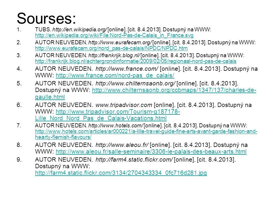Sourses: 1.TUBS. http://en.wikipedia.org/ [online].