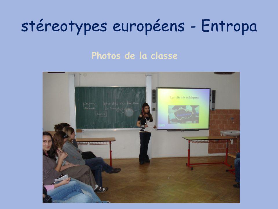 Photos de la classe