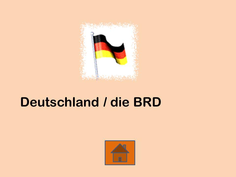 Deutschland / die BRD