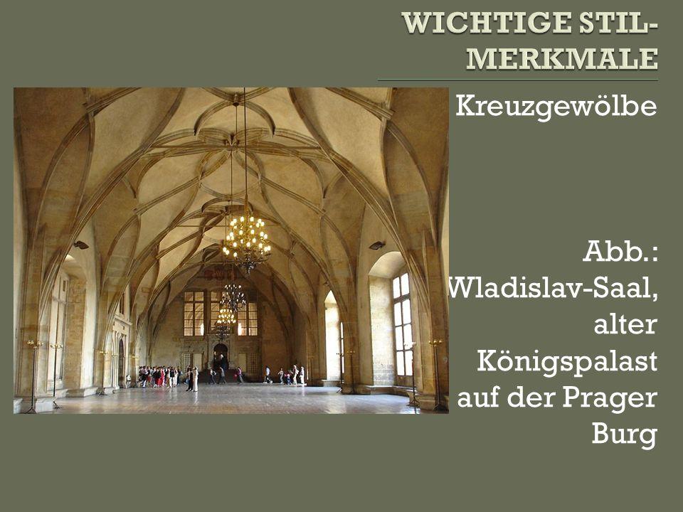 Spitzbogen hohe Fenster Abb.: Presbyterium des Agnesklosters in Prag