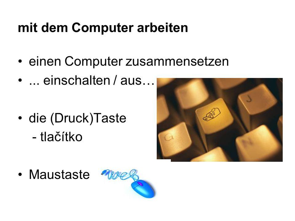 mit dem Computer arbeiten einen Computer zusammensetzen...