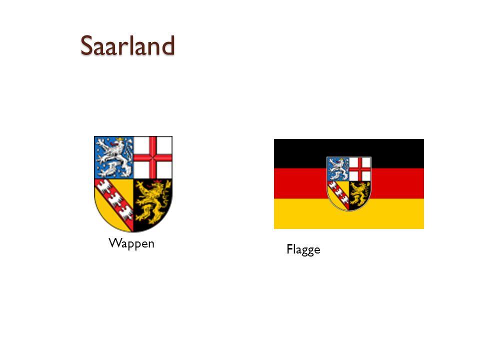 Saarland Wappen Flagge